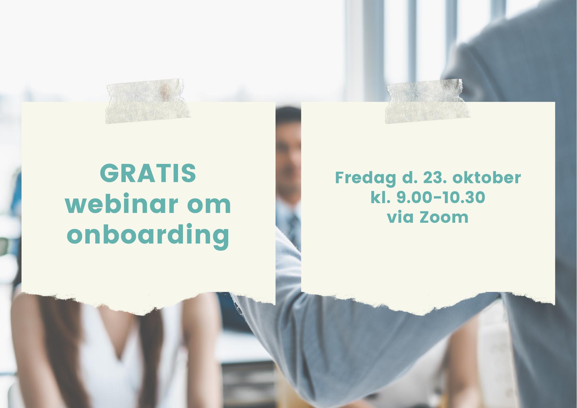 GRATIS Webinar om onboarding
